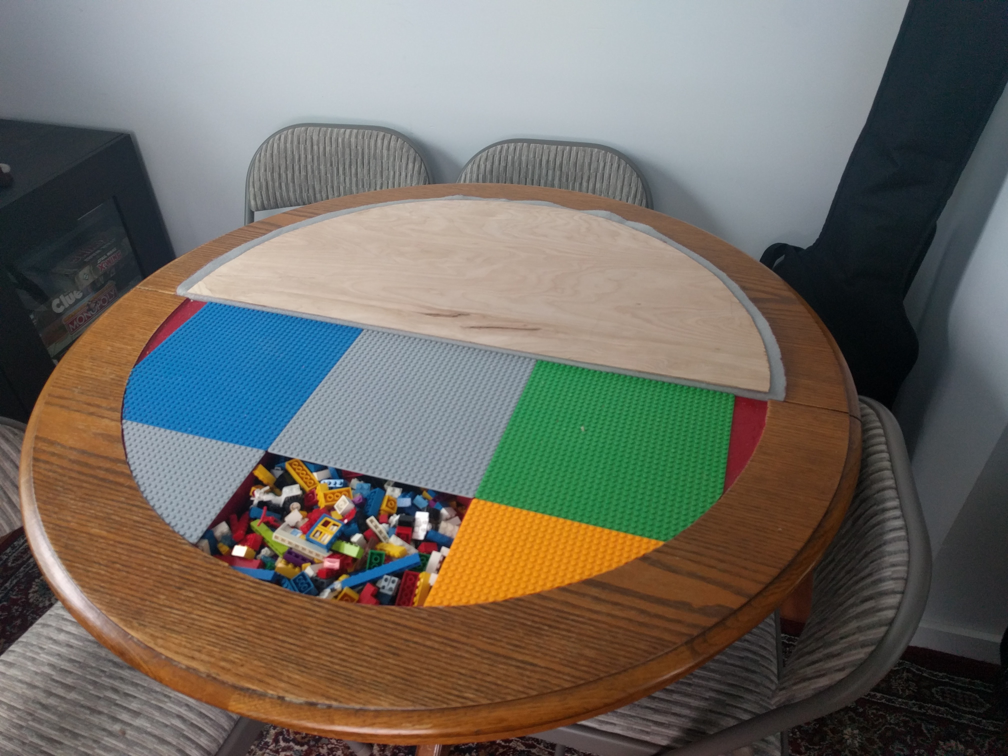 Easy access to legos means you can still have fun when you've been drinking too much to play board games!